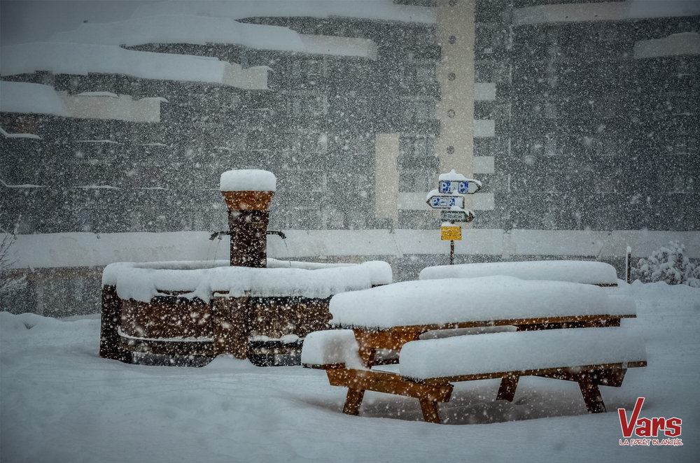 New snow in Vars - © OT Vars