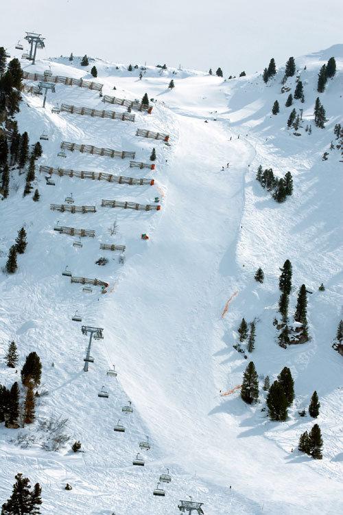 Bien que plutôt courte (150 mètre seulement), la piste Harakiri présente une déclivité moyenne de 78% ! - © OT Mayrhofen