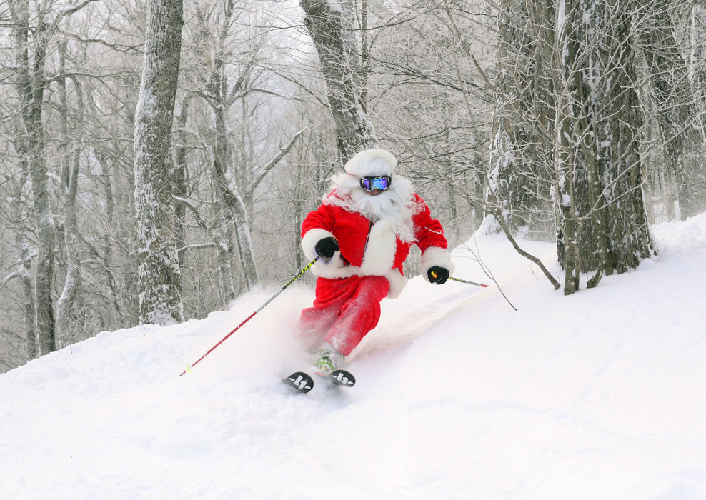 St. Nick slaying at Mad River Glen. - © Mad River Glen Resort