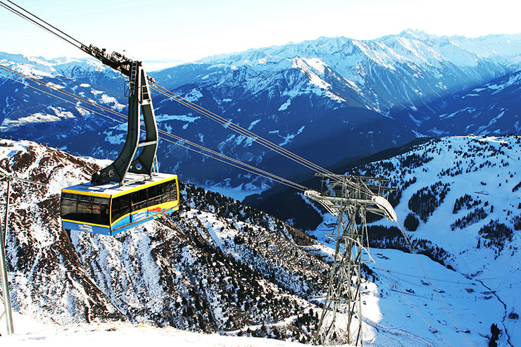 Taking the gondola up the mountain in Mayrhofen, Austria - © Stefan Drexl