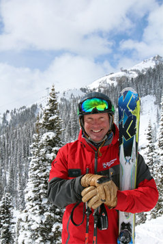Tommy Moe happy to be out on his home mountain, Jackson Hole - © Patrick Nelson