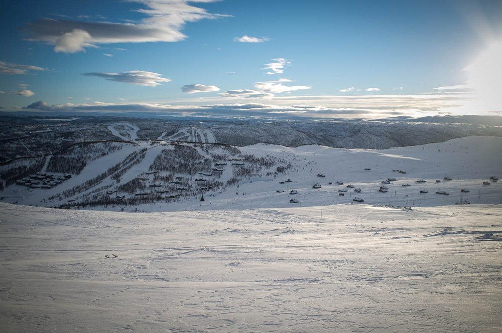 Virkelig flott på Geilo i dag, 10. januar 2014. - © Eirik Aspaas