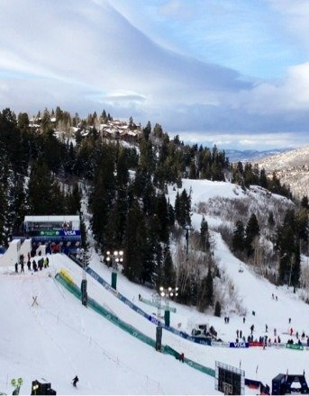 Great day at Deer Valley- fresh snow, World Cup Freestyle Aerials, doesn't get any better than this!