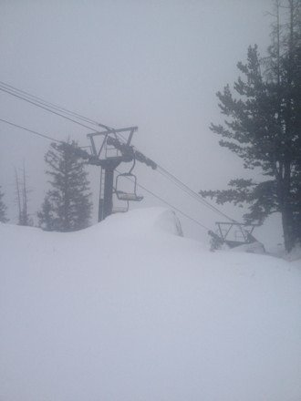 Awesome day in the Bighorns, fresh snow all day!