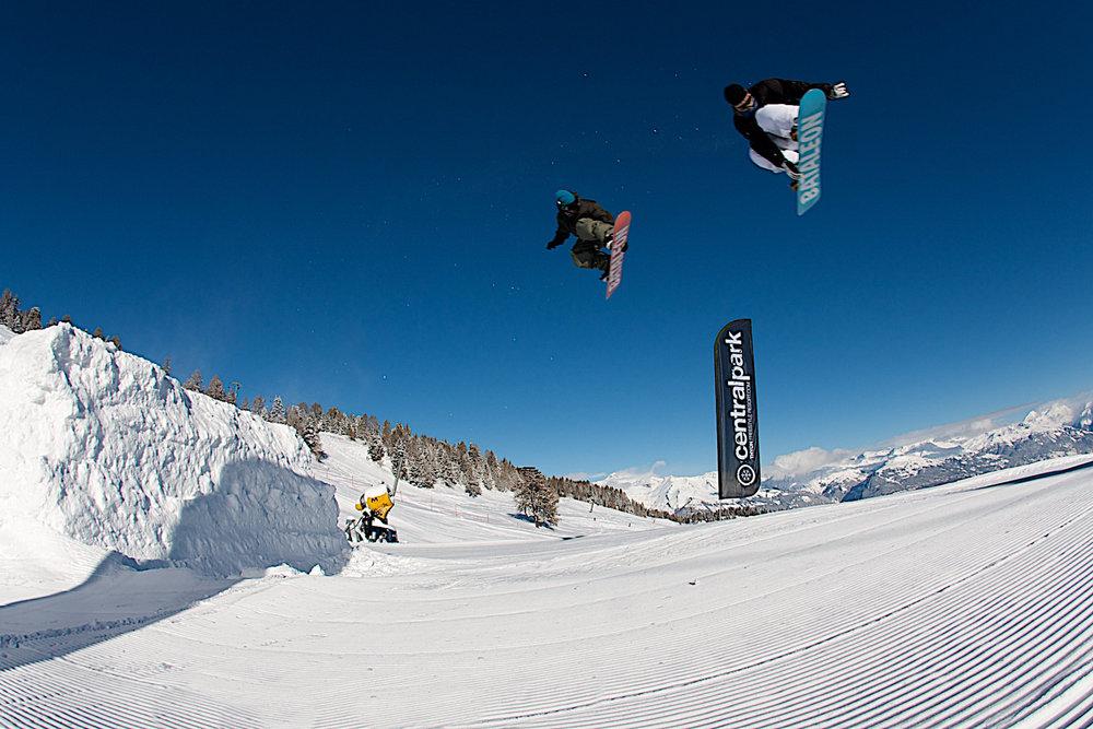 Thyon propose l'un des meilleur snowpark de Suisse Romande - © Thyon-Région Tourisme