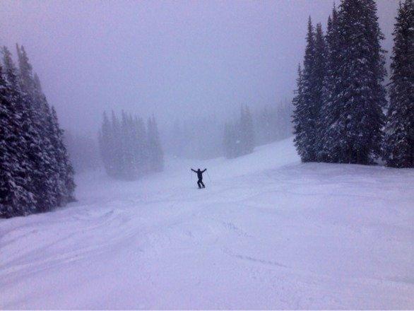 Awesome whiteout day Sunday! Powder puff moguls