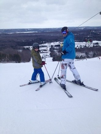 Sunday was a good day for ski !!!!! Not to many people