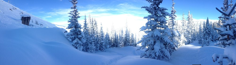 Wonderful day (1/15). Blue Sky/China reopened after wind closure yesterday and were untracked.  Perfect.
