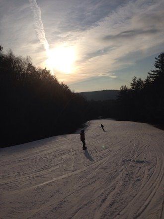 If you're complaining about sundown you're expecting way too much. This is a southern New England mtn. The lines may take 2 minutes at most. The only time it's not do much fun is when ski bus kids are there. (Usually wed. Thurs and Fridays from about 3-7) other than that. It's a great mountain for ct. And they blow snow any chance they get. Even after all this warm weather they have plenty of snow. Is it vt. No. Is it Utah no. But it's out mtn. If you can't realize and remember we are in ct then you're not going to like it.