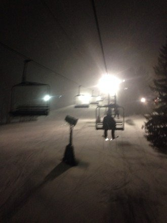 Not the best pic. Great time at Snow Trails last night! Friendly staff and fresh powder!