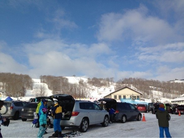 Nice day for skiing!! Not so many ppl. All trails opened. Temperature is good too!