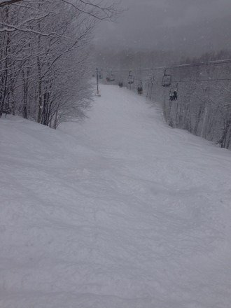 Very great morning snow wise...Madonna was closed so some 10 am fresh tracks. Getting crowded