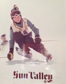 Street graces an advertisement for Sun Valley as a kid.  - © Picabo Street