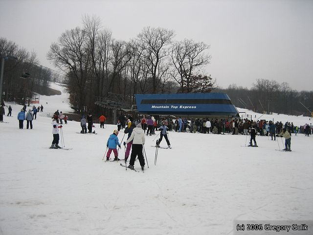 A view of the base area at Cascade Mountain, Wisconsin