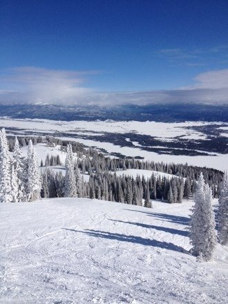Plenty of snow on the mountain.