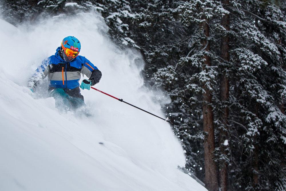 Leaving a trail of powder behind in Snowmass. - ©Jeremy Swanson