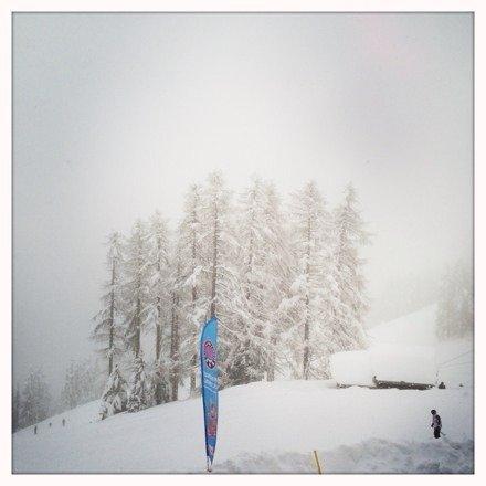 Nevica senza sosta da sabato! Le piste più alte sono impraticabili per rischio valanghe comunque si scia bene