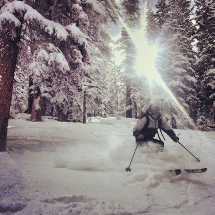 Mostly skied out on the main runs, but still some deep spots to be found in and around the trees! More snow is on the way too