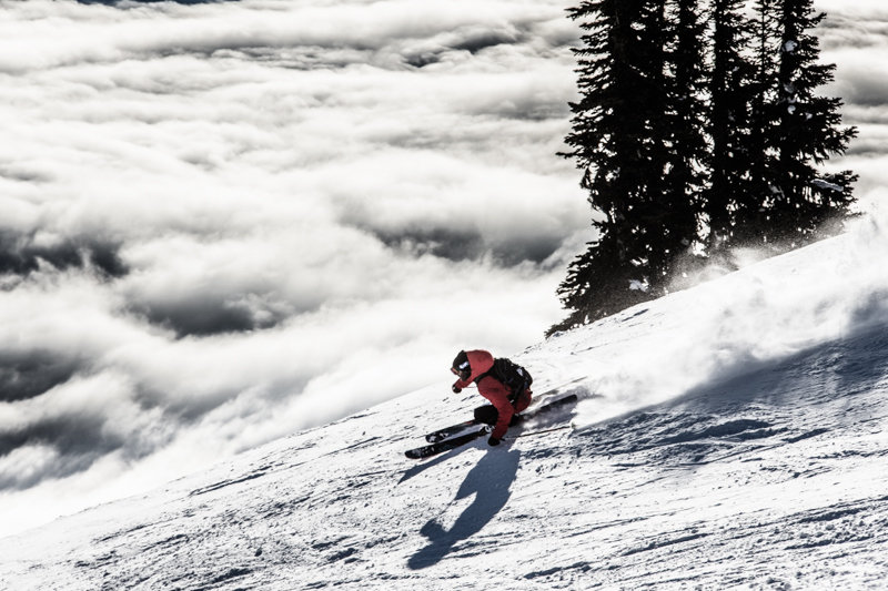 The groomers at Revelstoke are legit. Steep, rolling and seemingly endless. Skier Todd LIgare - © Liam Doran