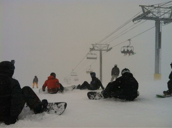Total whiteout on Peak 6 today.  Sweet ride!