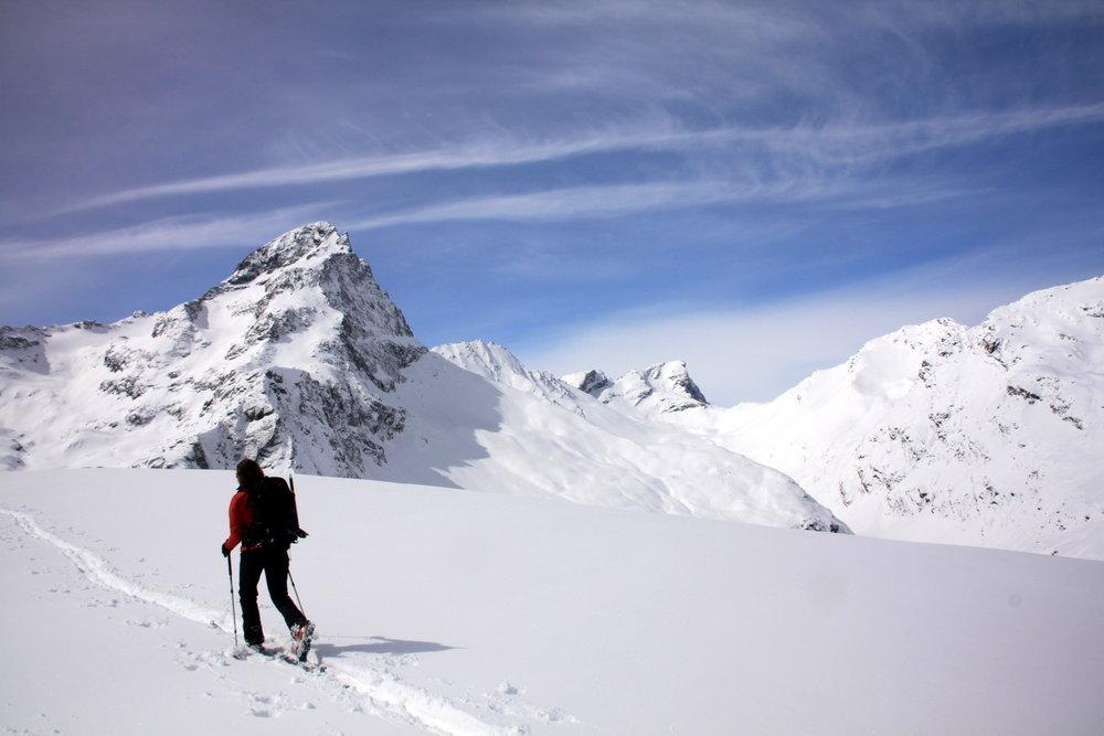Auf der Skitour zum Piz Platta