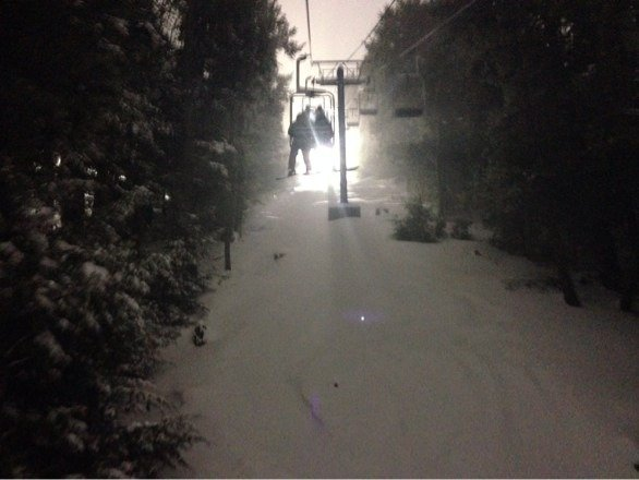 Skiing was great last night! All this fresh snow should make it good for awhile
