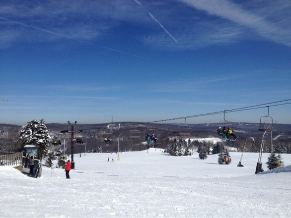 Absolutely amazing conditions yesterday. Slopes when never better.