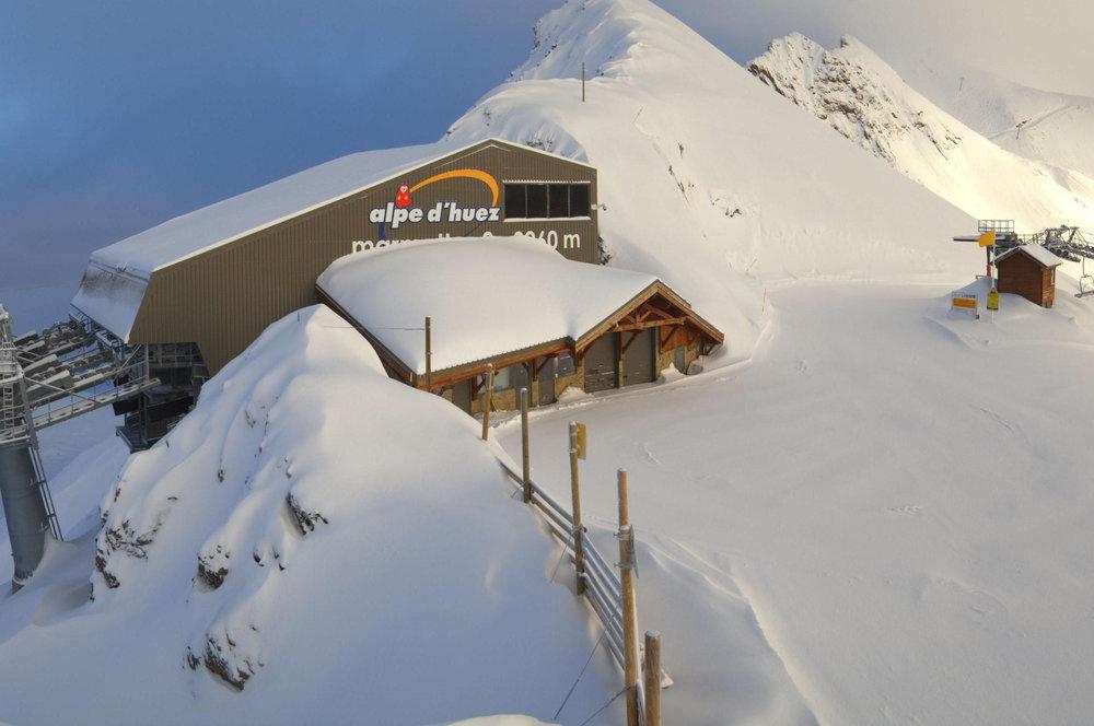 30 cm in Alpe d'Huez op 14 januari 2014