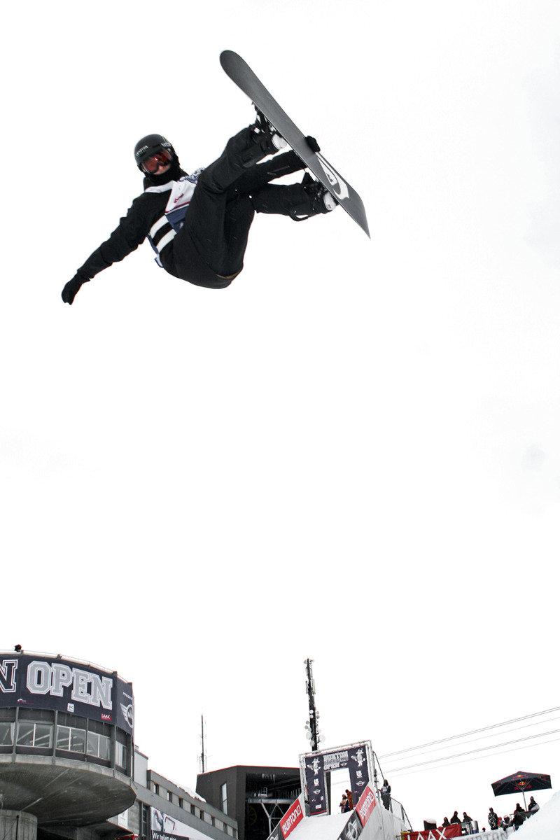 Iouri Podladtchikov im Halfpipe Final Burton European Open 2014 - © Stefan Drexl