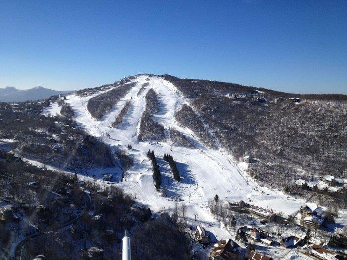 North Carolina's got great terrain to offer new skiers and riders. - © Beech Mountain Resort