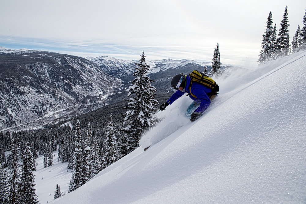 Perfect day at Aspen. Skier Darcy Conover - © Liam Doran