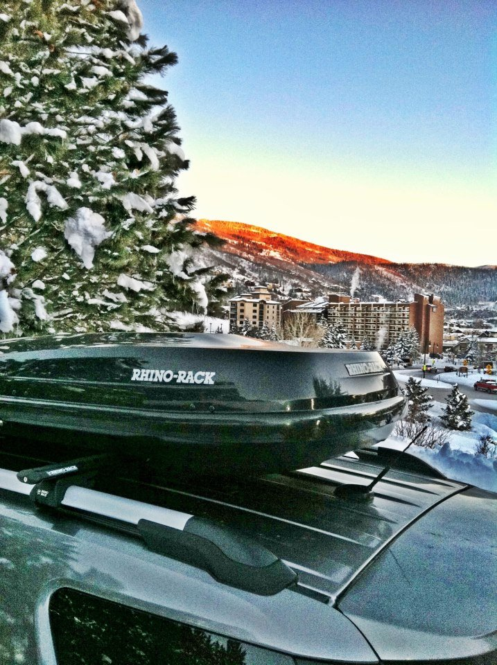 The Rhino-Rack RMFZ85 is a must for skiers and riders looking for a large-capacity, stylish cargo box. - © Rhino-Rack