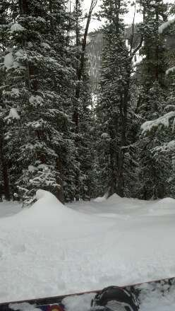 last run at 3 and this was it great day in the trees all over keystone