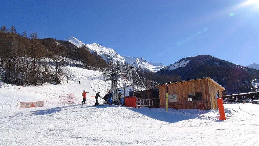 Ski au pied des Autanes sur le domaine de Serre-Eyraud