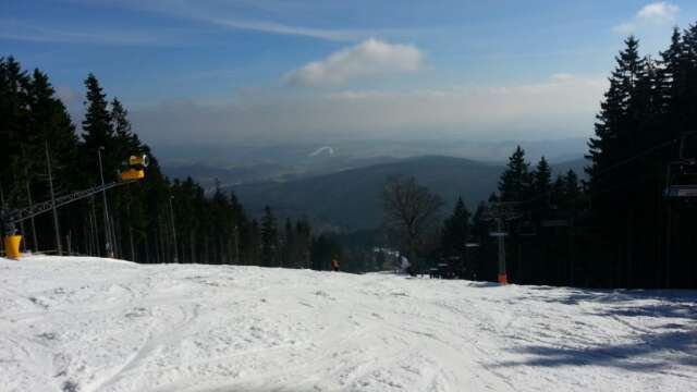 snow was ok at the morning but then had a lots of bumps but it was fun. hope that will snow soon.