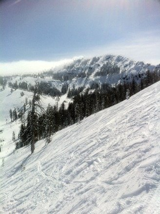 Beautiful day, lots of new snow, pretty heavy at times, but well worth it.
