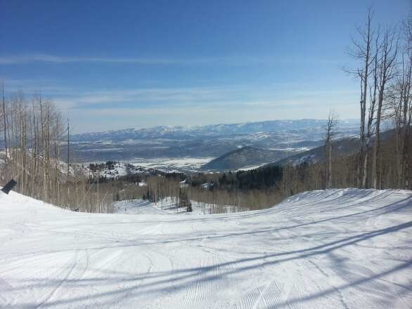 Great day at the Canyons.  Blue skies