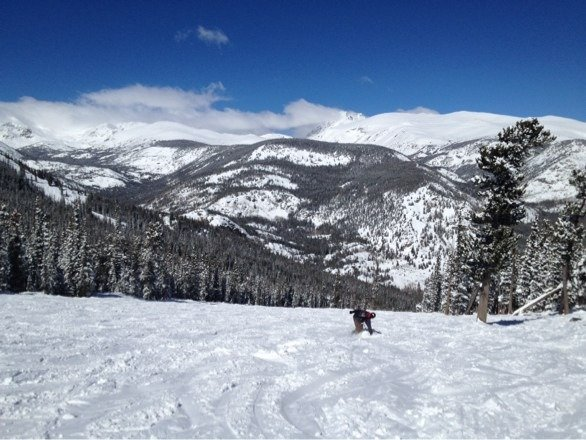 Nice blue sky day.  Good snow.  Minimal wind.  Only complaint is Eldora gets tracked/bumped out fast on weekends.