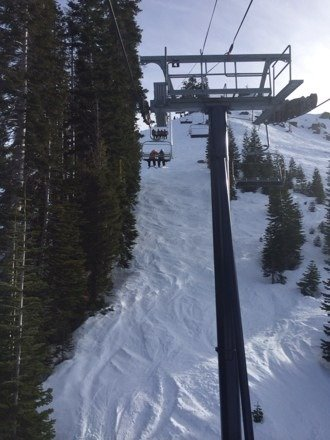 Went on Saturday, no lines, a few shrubs sticking out but not bad, good coverage. The tree skiing was great.The picture is from going up on Disney on my last run in 4:11.