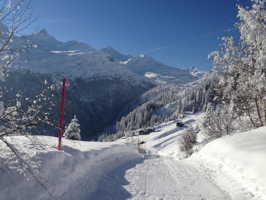 Traumhafte Winter-Impressionen auf der Skitour zum Fanellhorn - © F. Toenz