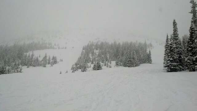 Made it up in the yesterday afternoon and they had already received 3-6 inches of heavy wet snow and it was still dumping.  Was definitely a epic day with a small crowd.