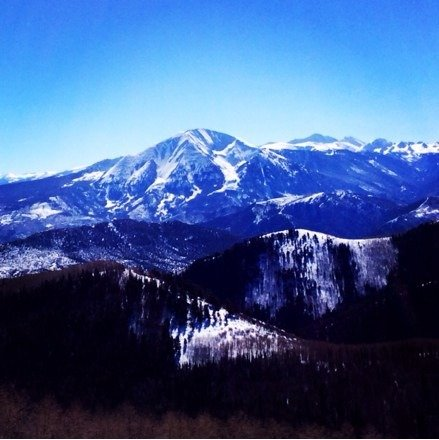 Awesome view on top today, loving the spring skiing!
