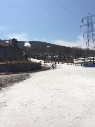 Soft snow no lines sunshine in full effect  Me & da boys tearing it up two thumbs up
