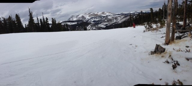 It's never a bad ski day, but the slush slowed me down a bit today. But I didn't complain