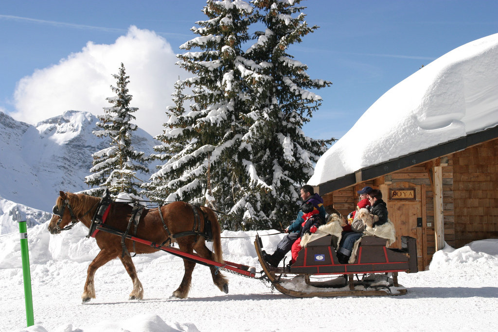 Take a horse-drawn sleigh in Avoriaz, France - © S. Lerendu / Avoriaz Tourisme