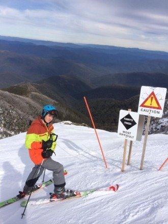 Early spring dump- 15cm ontop of a solid 95cm base on one of Buller's more notorious- Fanny's Finish