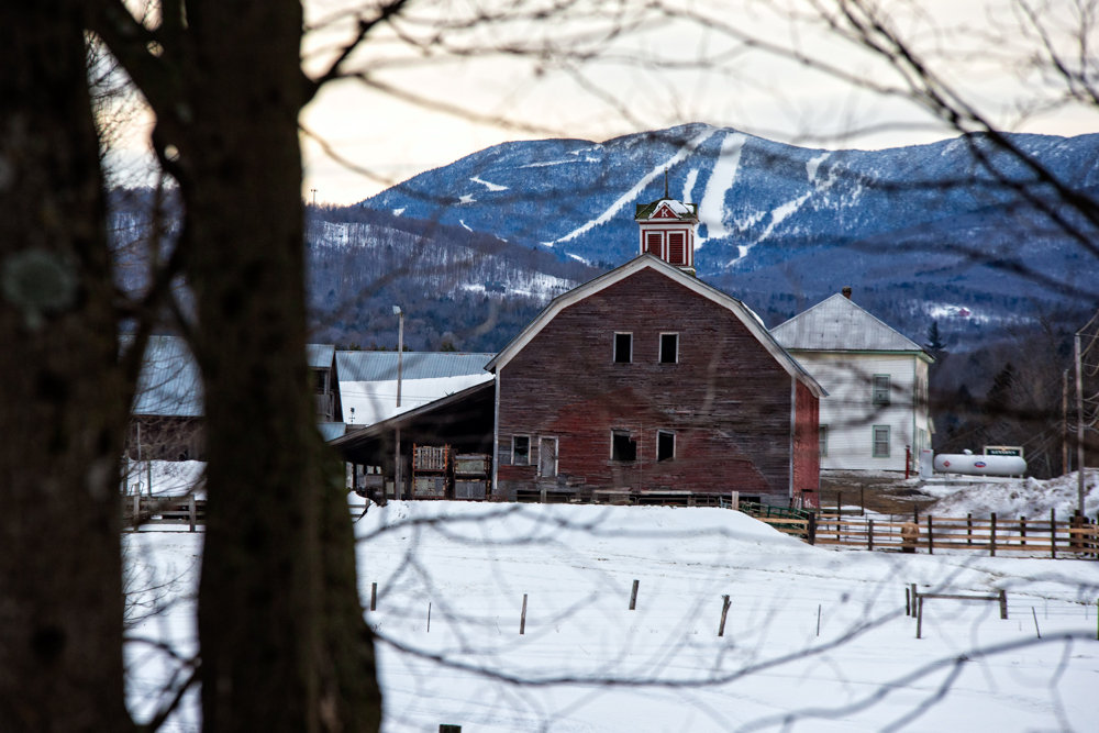 Beautiful Vermont countryside with Sugarbush in the backdrop. - © Liam Doran