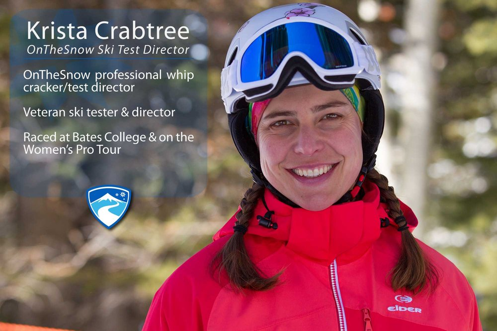 "Krista Crabtree, 41. Your ultimate ski day would need to include what? ""A crew of awesome ski testers, rad skis and a great test venue like Snowbird, Utah. Throw in some powder, an après-ski party, maybe a hot tub, friends, family, food and you've got an ultimate day."" - © Cody Downard Photography"