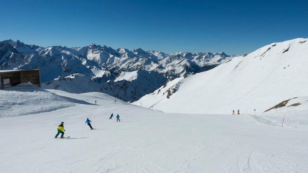 Skifahren am Nebelhorn Mitte März 2014 - © Fellhornbahn GmbH
