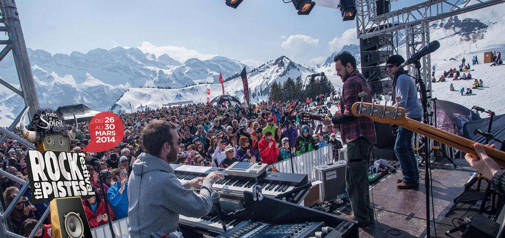 Rock the Pistes : des concerts pop-rock skis aux pieds, directement sur les pistes des Portes du Soleil